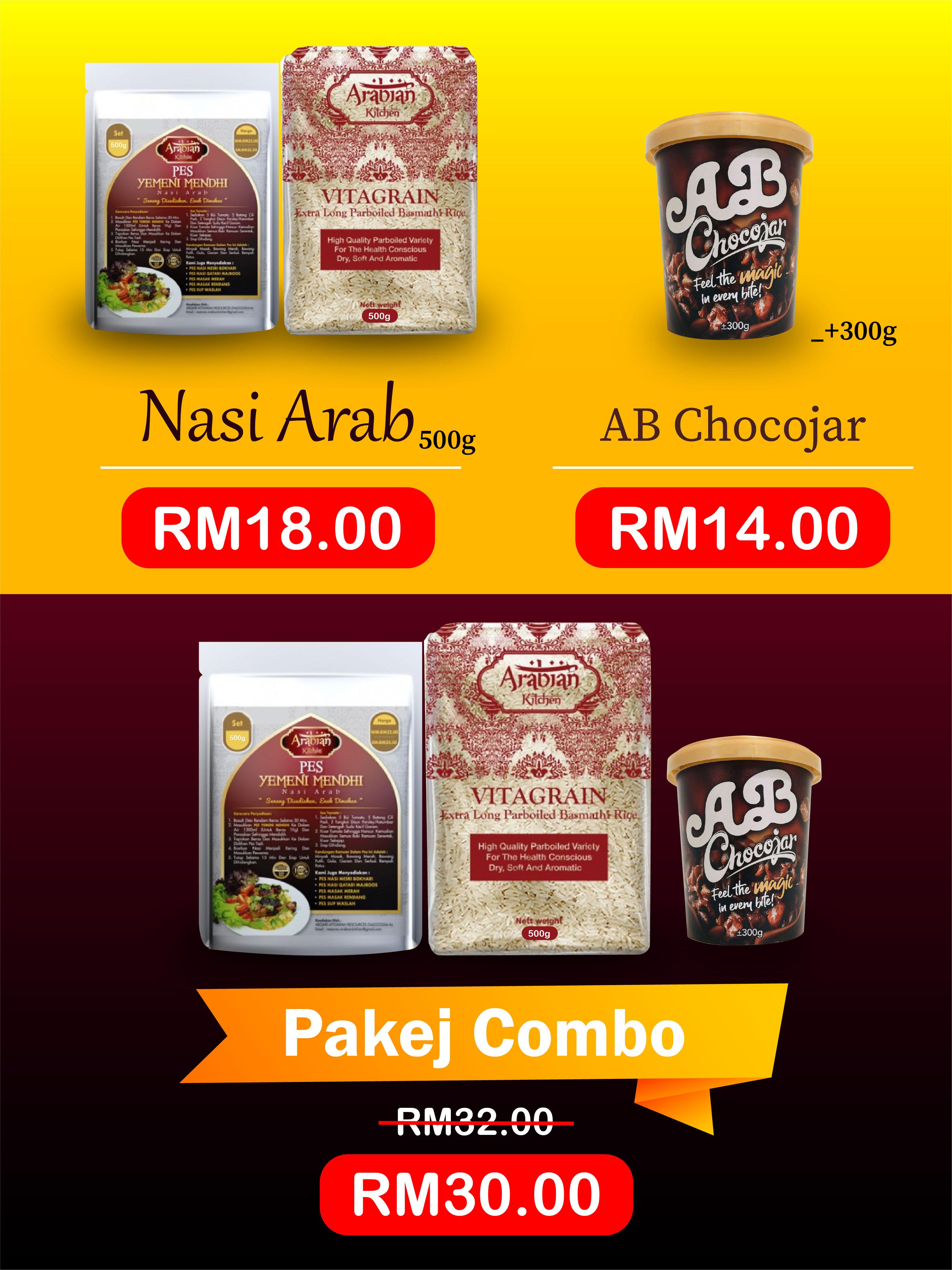 promosi nasi arab dan abchocojar